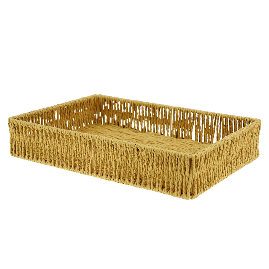 Cesta Fibra Fringes Natural 26X18X5Cm